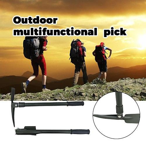 Pickaxe Outdoor Camping Mountain Fiberglass Handle Multifunctional Folding Iron Pick High Carbon Steel Sharp Beak Mountain Pick