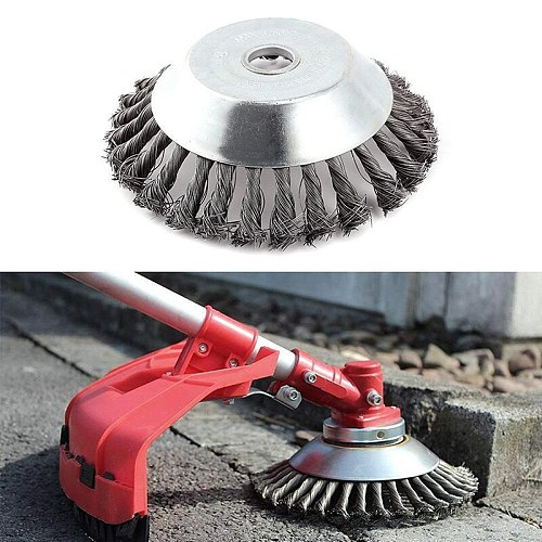 Wheel Grout Weed Brush Polishing Twisted Garden Bowl Type Rotary Steel Wire Replacement Practical Accessories Trimmer Cutter