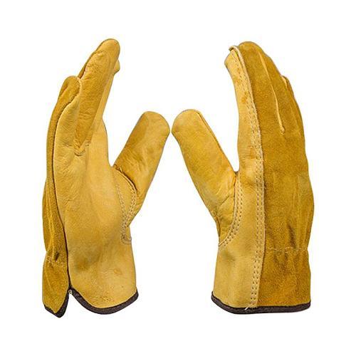 Gardening Gloves for Roses Leather Work Gloves Anti-slip Driver Garden Gloves for Mechanical Repair Tool Digging Planting Tool