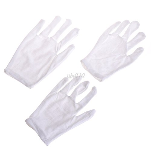Kids Fun Express White Etiquette Polyester Child Size Performance Costume Gloves S09 Wholesale&DropShip
