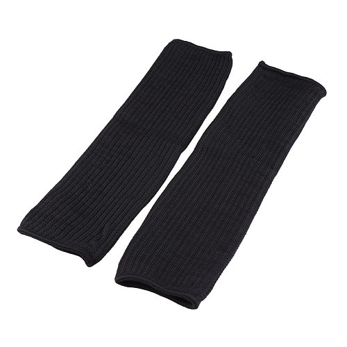 1pair Cut-resistant Sleeves Anti-cut Arm Guard Cutting Scratching Safety Guard Stainless Steel Wire Arms Protector