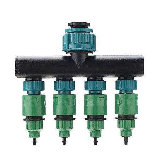 DANIU Universal 4 Way Hose Splitter Tap Manifold for Garden Faucet Shut Off Connector Water Pipe Divider Hose Quick Adapter