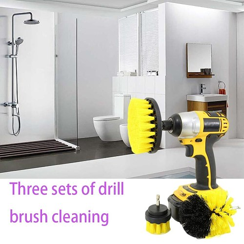 Drillbrush 3 Piece Drill Brush Cleaning Tool Attachment Kit for Cleaning Tile Grout Shower Bathtub General Purpose Scrubbing