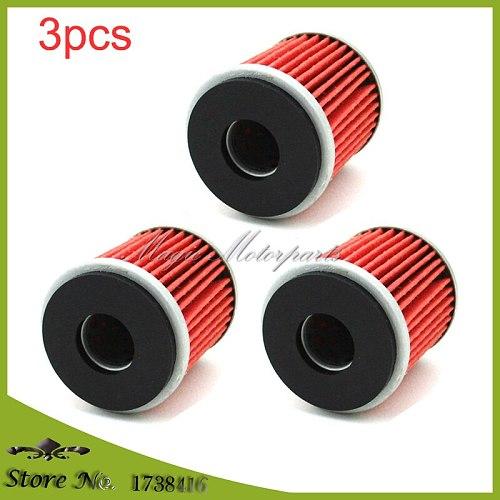 3x Oil Filter For 5D3-13440-09 YZ250F YZ450F WR250 WR250F WR450F YFZ450 XT250 XT250X YZF R125 VP125 X-CITY  YP125R X-MAX 125