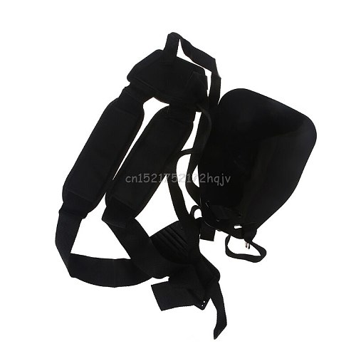 Double Shoulder Harness Lawn Mower Strap For Carry Hook Brush Cutter Trimmer New D22 dropship