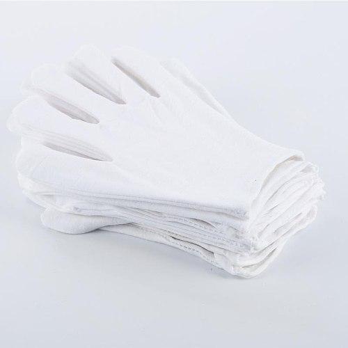 1/5/10/20/50/100Pair White Cotton Gloves Labor Protection Gloves Work Safe Cleaning Gardening Etiquette Supplies