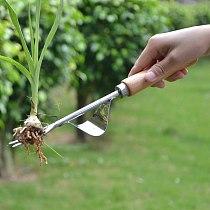 Practical Garden Wood Handle Fork Forked Head Weeds Remove Shovel Hand Weeder Puller Patio Courtyard Gardening Trimming Tools