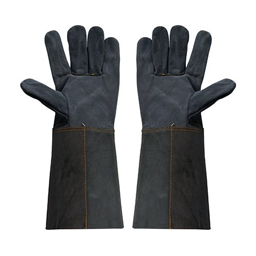 Welding Glove Work 's Leather Barbecue Gloves Working Garden Protective Anti-scald Splash Proof Long Sleeve Glove