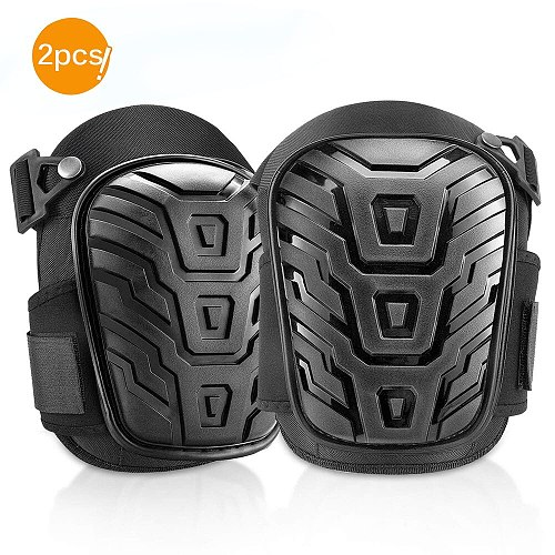 2 Pcs Soft  Foam Knee Pads Work Safety Knee Protectors For Outdoor Sprot Garden Workers Builder Black Color