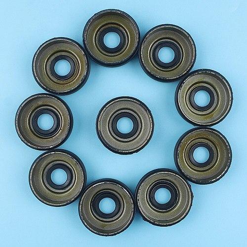 10 X Crank Oil Seals Set For HUSQVARNA 31 46 136 137 141 142 235 236 240 Chainsaw Replacment Spare Parts 530 05 63-63