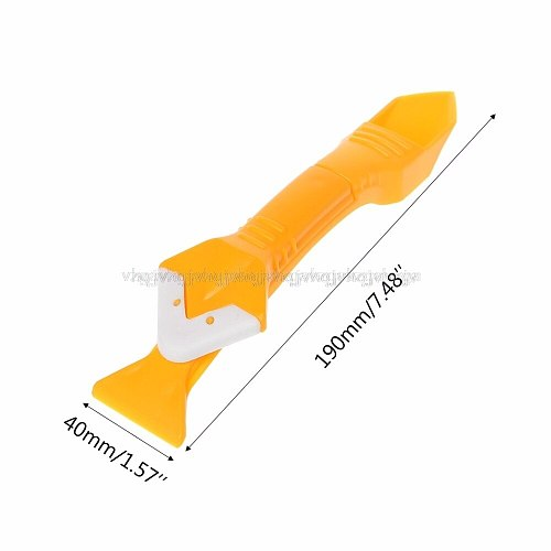 Caulking Grouting Sealant Finishing Cleaning Silicone Trowel Angle Scraper Tools Silicone Trowel JUN28 dropship