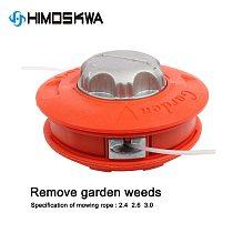 Orange Universal Bump Feed Line Trimmer Head Aluminum Strimmer Grass Brush Cutter Parts  dropship