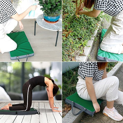 Foldable Memory Foam Knee Mat,Collapsible Gardening Kneeling Pad,Slow Recovery Construction Knees Support Cushion Balance Board