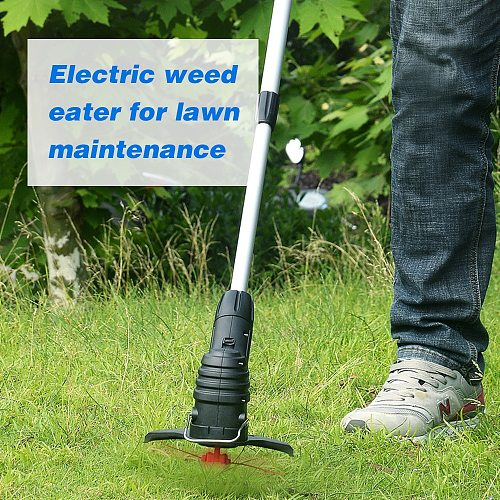 Cordless Lawn Mower Electric Grass Trimmer USB Rechargeable Lightweight Mowing Machine Electric Lawn Mower Gardening Tool