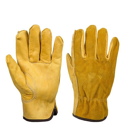 Garden Gloves Gardening Leather Gloves Heavy Duty Quick Easy To Dig and Plant for Digging Planting Garden Tools M/L/XL
