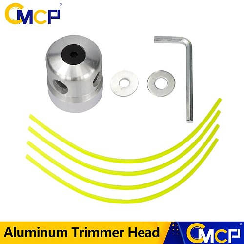 CMCP Aluminum Trimmer Head With 4 Lines Brush Cutter Head Lawn Mower Accessories Cutting Line Head For Strimmer Replacement