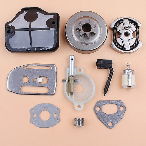 .325 Clutch Drum Oil Pump Air Filter Bar Plate Gasket Kit For HUSQVARNA 142 141 137 136 36 41 Chainsaw Parts 530069342 545036801