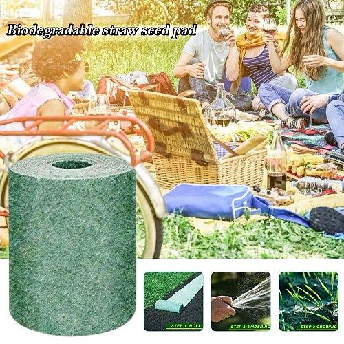 Biodegradable Grass Seed Mat Fertilizer Garden Picnic Lawn Planting Fertilizer Pads