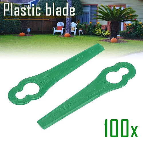 100pcs/pack Replacement Plastic Blades Cutter for Florabest Grass Trimmer Brushcutter Garden Tool Supplies #F5
