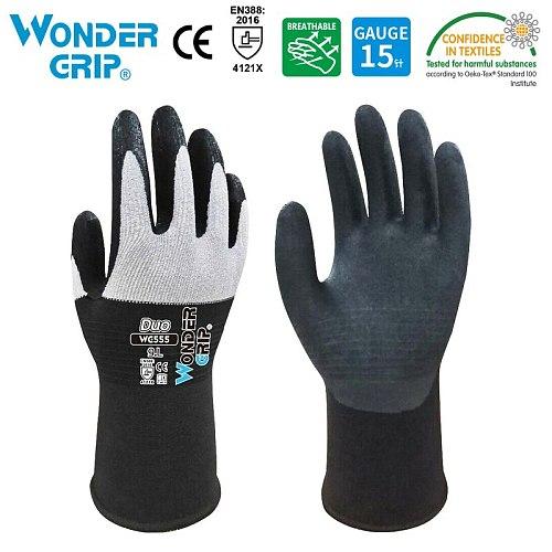 1 Pair Garden Gloves Nylon Garden Genie Rubber Gloves  Quick Easy to Dig and Plant gant de jardin WG555