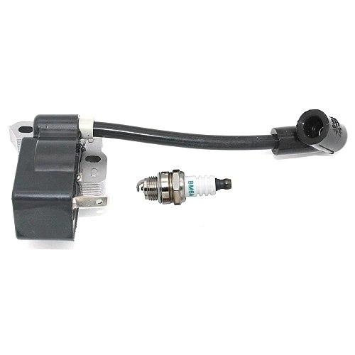 Ignition Module with Spark Plug BM6A for Homelite Ryobi Trimmer Brushcutter Hedgetrimmer Pruner Edger Blower 850108001 850108002