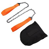 Portable Handheld Survival Chain Saw Emergency Chainsaw with Bag Camping Hiking Tool Lightweight