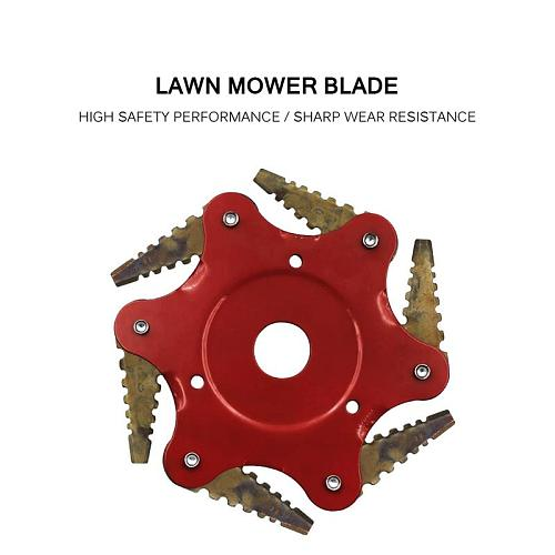 2019 NEWEST 6 Teeth Brush Cutter Blade Trimmer Metal Blades Trimmer Head Garden Grass Trimmer Head For Lawn Mower