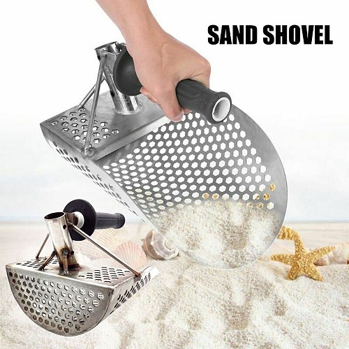 High Beach Sand Scoop Shovel Hunting Tool Stainless Steel Accessories for Metal Detector LG66