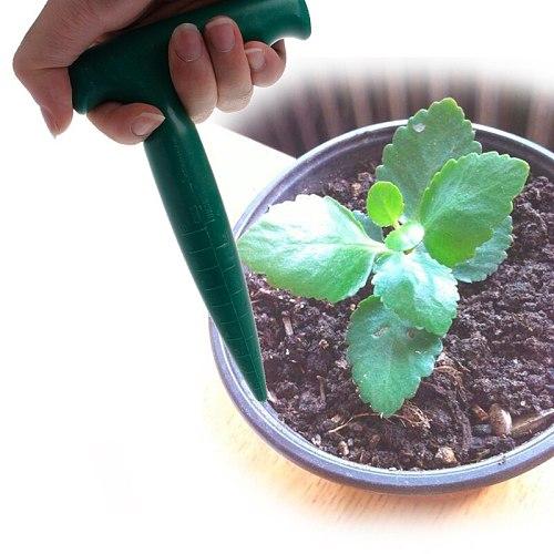 OOTDTY Plastic Green Dibber Digging Hole Tool Garden Bonsai Flower Planting Weeding Seedling For Seedstarting,Planting,Weeding