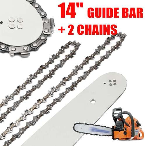 14 Inch Chain Saw Guide Bar with 2pcs Chains for STIHL 017 MS170 MS171 MS170/MS180/MS230/MS250 All Types Steel