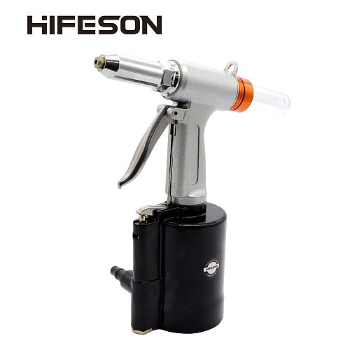HIFESON High Quality Pneumatic Air Hydraulic Rivet Gun Riveter Industrial Nail Riveting Tool Suitable for Aluminium/ Iron  Nails