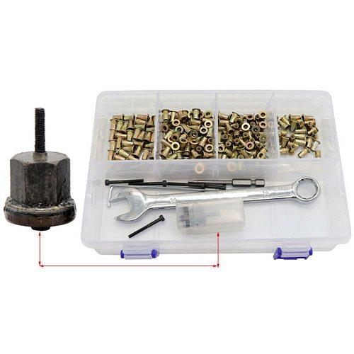 109pcs/set DIY Handheld Easy Storage With Spanner Electric Rivet Pistola Nuts Tool Kit Practical Multifunction Pneumatic Manual
