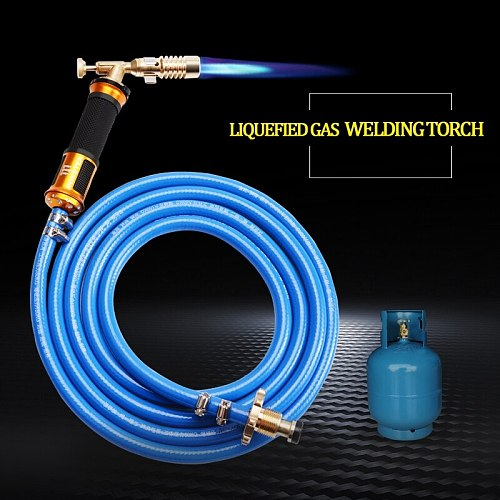 HHO-Electronic Ignition Liquefied Gas Welding Torch Kit with 3M Hose for Soldering Cooking Brazing Heating Lighting