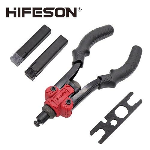 HIFESON High Quality Torch Door Lock Reamer Nut Gun Hand Tool Multi-function Dart Gun Rivet Gun