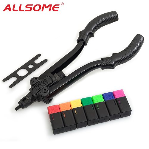 ALLSOME 13  Rivet Nut Tool Professional Rivet Setter Kit with 7 Metric Mandrels M3 M4 M5 M6 M8 M10 M12 with Case