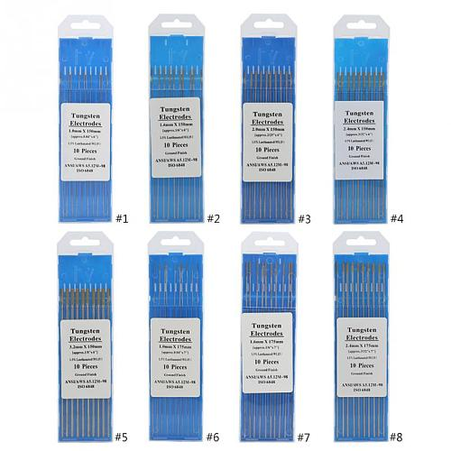 10pcs WL15 Lanthanum Tungsten TIG Electrodes for Stainless Steel Metal Alloy Welding