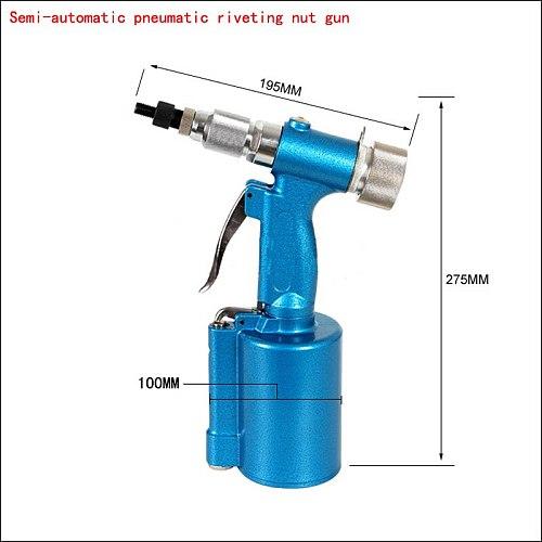 High Quality M4-M10 Semi-Automatic Pneumatic Riveting Nut Gun Pneumatic Drawing Machine For Stainless Steel Rivets Rivet Machine