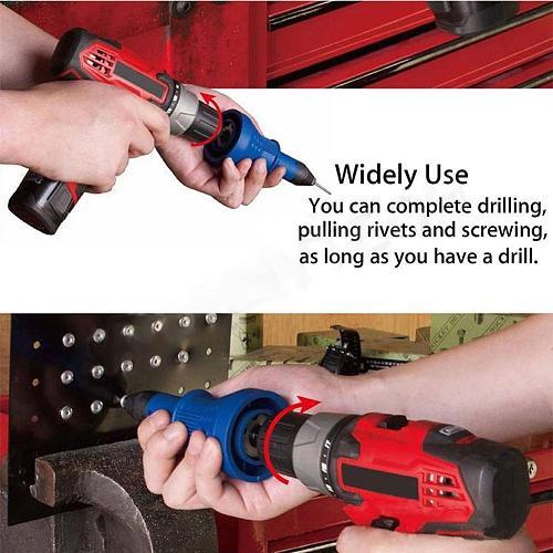 SOLLED Pull Rivet Conversion Adapter SOLLED Rivet Nut Guns Riveting Drill Adaptor Nut Tool Multifunction Nail Gun Rivets