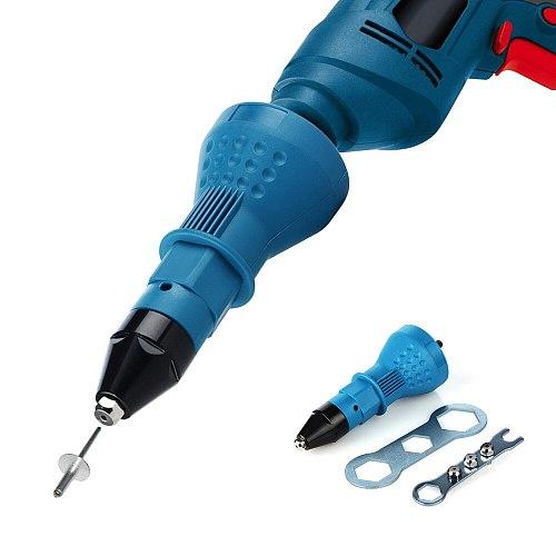 Electric Pull Rivet Conversion Adapter Gun Riveting Tool Rivet Nut Guns Riveting Drill Adaptor Nut Tool Multifunction Nail Gun R
