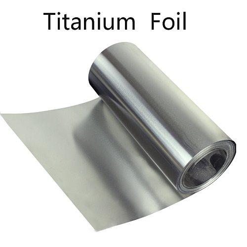 Titanium Strip 0.1-0.5mm Ti Foil Thin Sheet Industry DIY Material Corrosion Resistance Medical Titanium Aerospace Machining