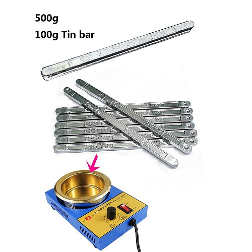 500g/1000g High Purity Tin Solder Rod Pure Tin bar No Lead Soldering 63/47 Low Melting Point Antioxidant Sn Welders Welding Wire