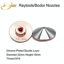 JHCHMX Raytools Nozzles Double Layer Dia.32mm Caliber 0.8-4.0mm For Empower BT230 BT240 Fiber Laser Head Bodor Laser Machine