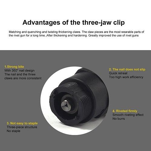 Electric Rivet Nut Gun Riveting Tool Insert Nut Tool Riveting Drill Adapter 2.4mm-4.8mm Cordless Riveting Drill Adaptor