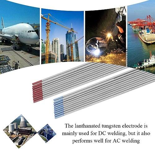 Lanthanated Tungsten Electrode 10pcs Fine Quality Lanthanated Tungsten Electrodes Tungsten Rod Welding Accessories