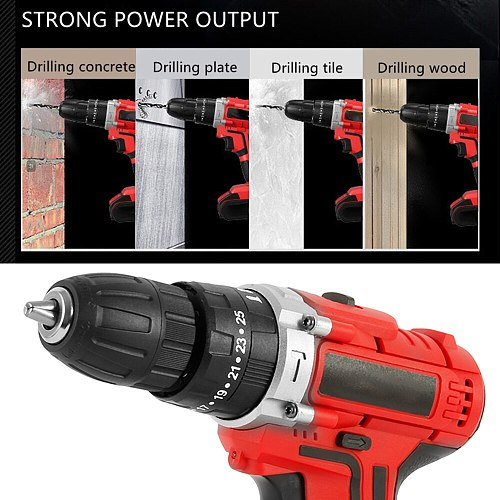 12V 48VMultifunctional Electric Screwdriver Cordless Electric Drill Rechargeable Home DIY Electric Screwdriver Power Tools