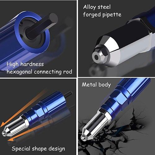 Electric Blind Rivet Gun Adaptor Aluminum Alloy Body Conversion Adapter Electric Rivet Guns Riveting Drill Adaptor Tool