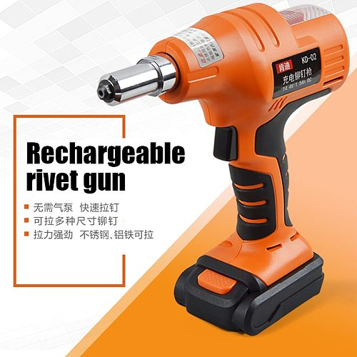 Electric Riveting Gun Stainless Steel Core Pulling Rivet Quick And Labor Saving Riveting Gun Lithium Electric Power Tool 14.4V