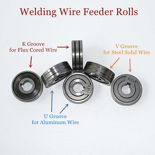 Welding Feeder Roll V U Knurl Groove 0.6mm 0.8mm 1.0mm Size 30x10x10mm for Steel Aluminum Flux Cord Wire Mig Wire Feeder