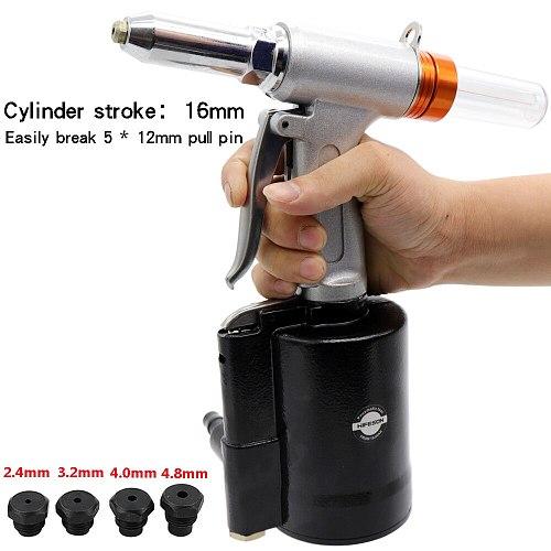 HIFESON Pneumatic Air Hydraulic Rivet Gun Riveter Industrial Nail Riveting Tool Suitable for Aluminium/ Iron  Nails