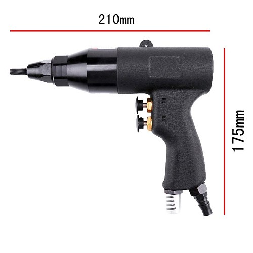NEW M5/M6/M8 Pneumatic Riveters Pneumatic Pull Setter Air Rivets Nut Gun Tool Only for Galvanized iron Rivet Nuts